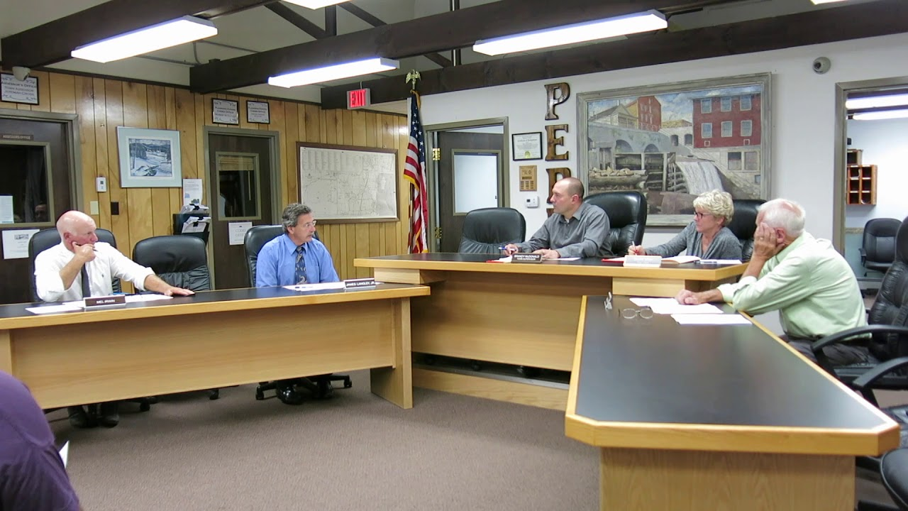 Peru Town Board Meeting  9-10-18