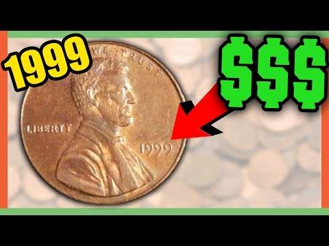 RARE PENNIES WORTH MONEY - PENNY ERRORS 1999 WIDE AM PENNY!!