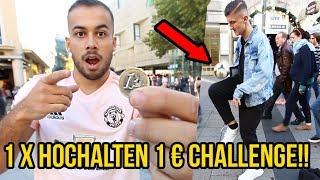 1€ pro FUSSBALL Hochhalten Challenge!!
