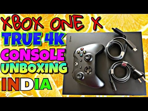 XBOX ONE X TRUE 4K CONSOLE UNBOXING INDIAN WARRANTY!