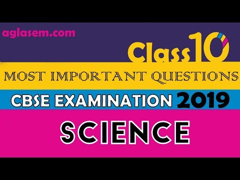 Science Most Important Questions   CBSE Class 10th