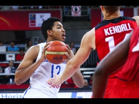 Karl-Anthony Towns - #FIBAAmericas - Day 9: Dominican Republic v Canada - Dunk of the Game