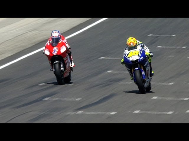 MotoGP Historic Battles -- Rossi vs Stoner Laguna Seca 08' Travel Video