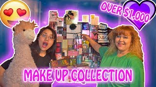 My Boyfriend's Mom's Makeup Beauty Collection!!! (Over 1,000 Products)