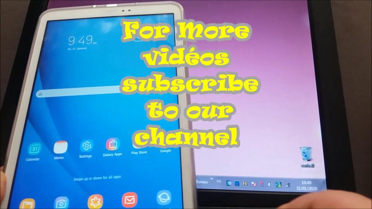Contourner La Sécurité De Compte Google Sur Samsung Tablette A6 Modèle T580 Binary U4 Youtube