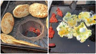 중국 길거리 음식 아침식사 계란 전병 鸡蛋灌饼Chinese street food