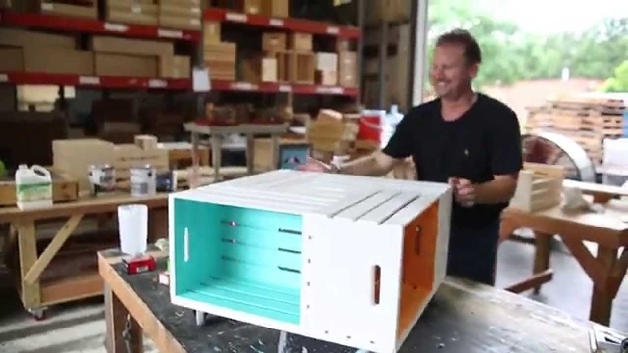 Johnny kentucky makes a pinwheel crate coffee table youtube geotapseo Images