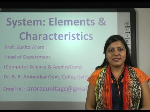 System Analysis & Design in Hindi: System Elements & Characteristics under E-Learning Program