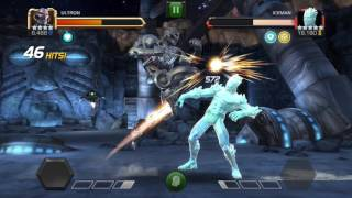 Here is how i beat Iceman with ultron.