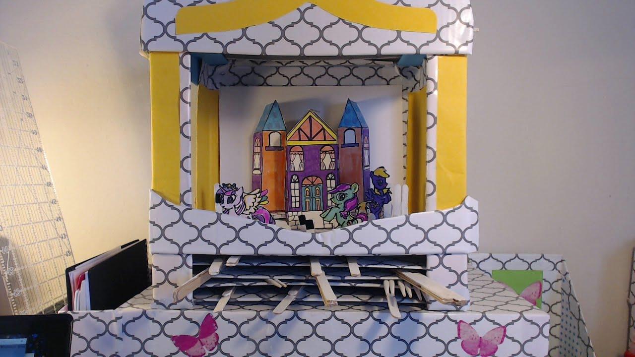 Manualidades mini teatro de carton youtube - Manualidades en carton ...