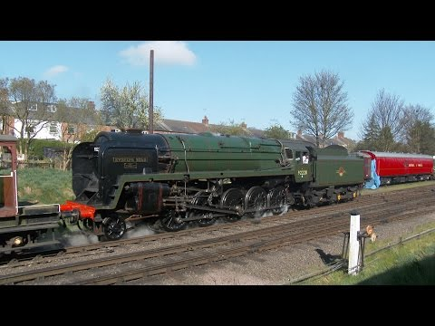 GCR Railways at work weekend featuring 92220 Evening Star & 6960 Raveningham Hall 18 Apr 2015