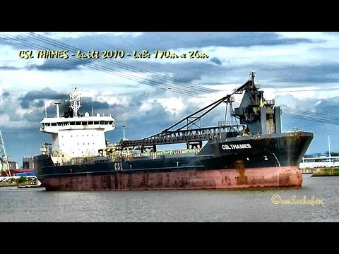 CSL THAMES 9HVS9 IMO 9440447 Emden Big Sealock self discharging bulk carrier Selbstentlader