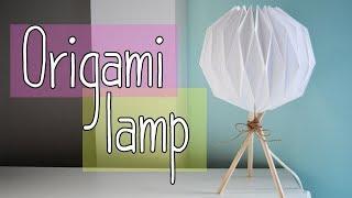 How to make an ORIGAMI LAMP - DIY Paper Lamp
