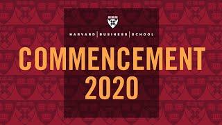 Harvard Business School Commencement 2020