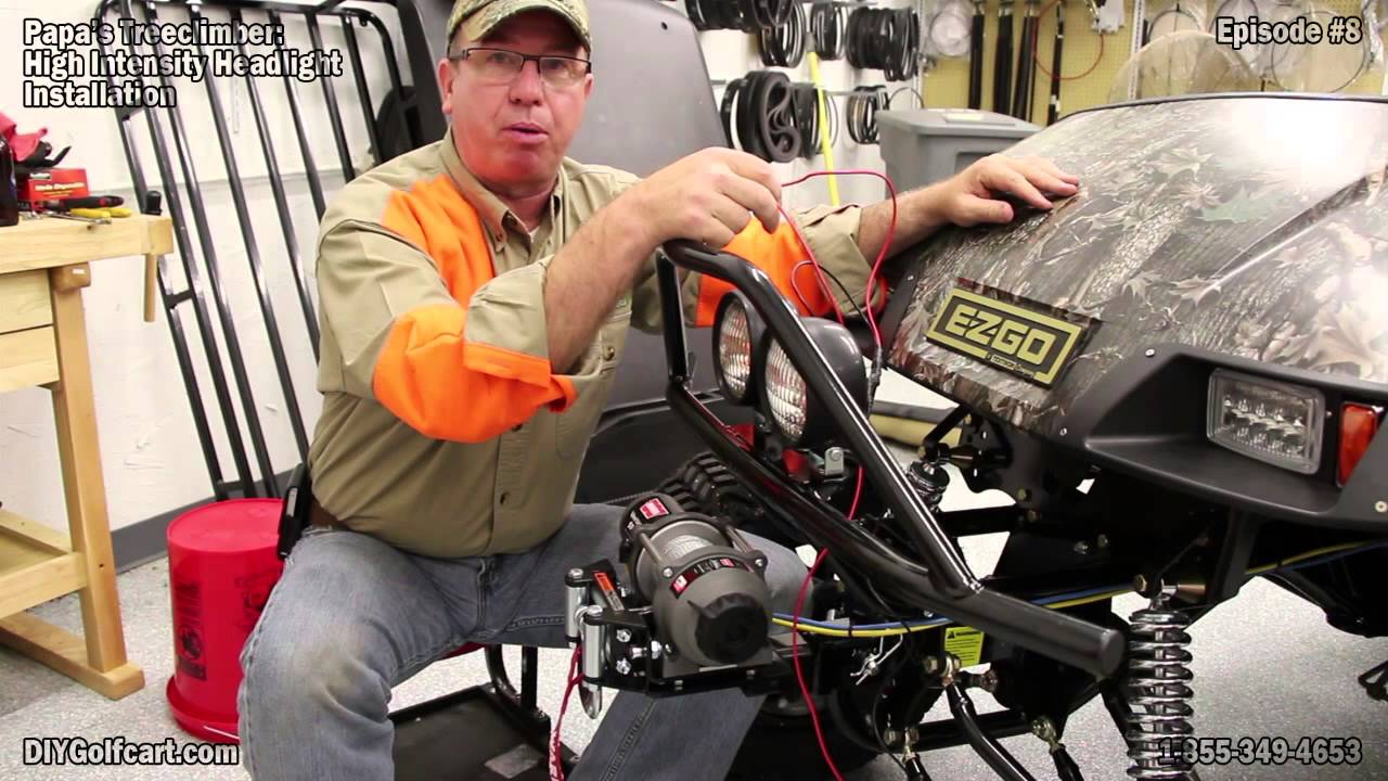 How To Install Kc Lights On An Ezgo Golf Cart Youtube Light Bar Wiring Diagrams
