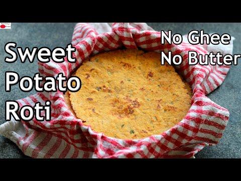 Sweet Potato Roti Recipe – Sweet Potato Thepla – Sweet Potato Paratha – Healthy Vegan Recipes