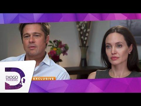 Terapia de casal com Angelina Jolie e Brad Pitt ParódiaRedublagem