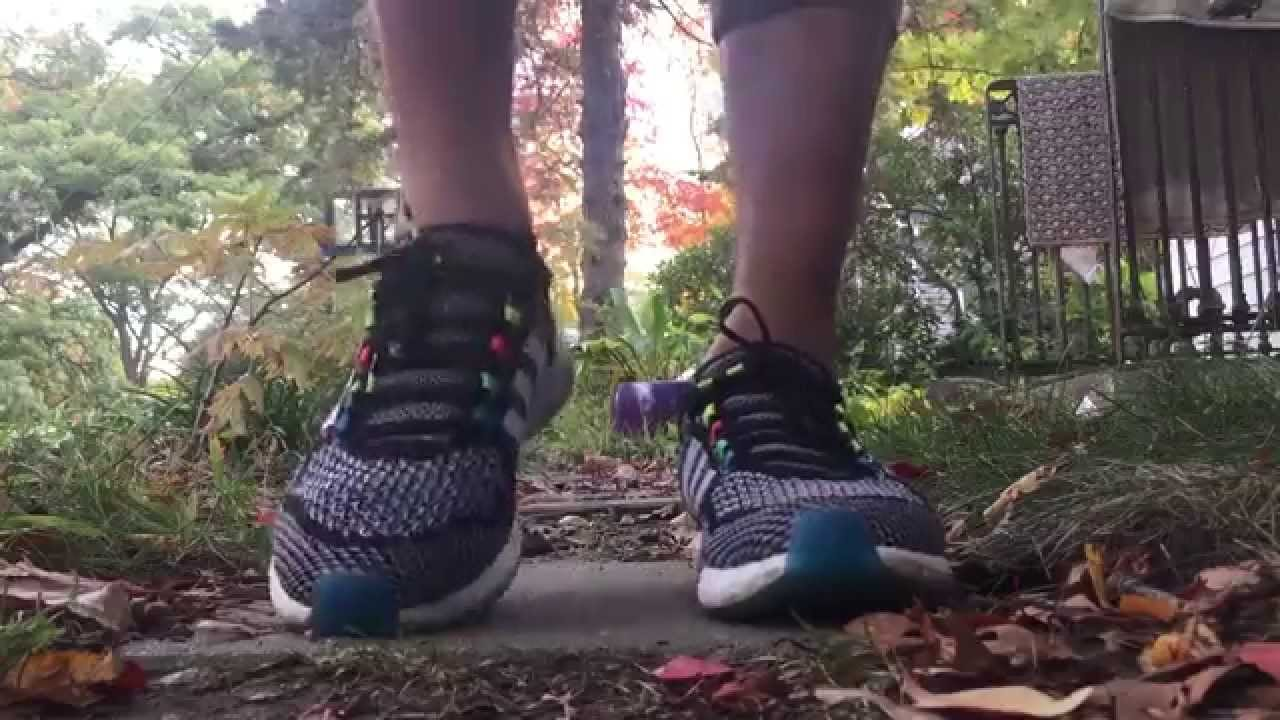 b6de66b6c3cb Adidas Cosmic Boost  Neon Colorway  On Feet - YouTube