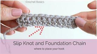 Crochet Basics: Slip Knot and Foundation Chain