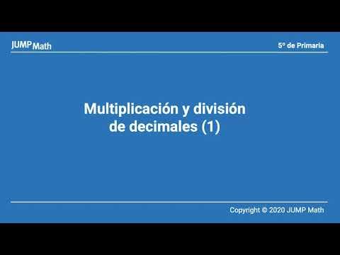 5. Unidad 4. Multiplicación y división de decimales I
