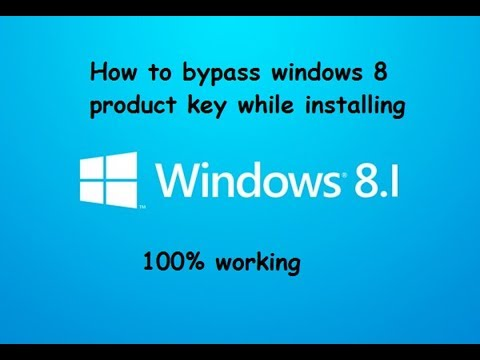 bypass windows 8 product key