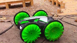 Машина Амфибия - Езда внедорожника по воде | Видео для детей