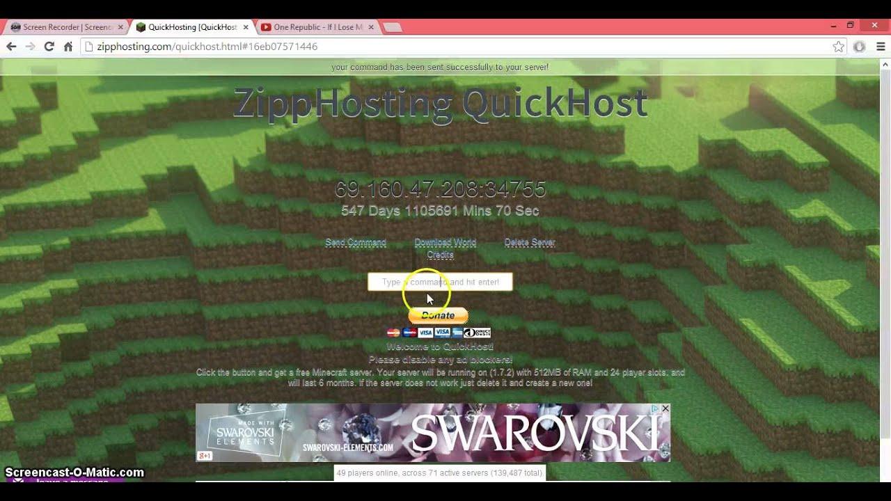 ZippHosting Free Minecraft Server Hosting Slots - Minecraft server erstellen kostenlos 1 10 2
