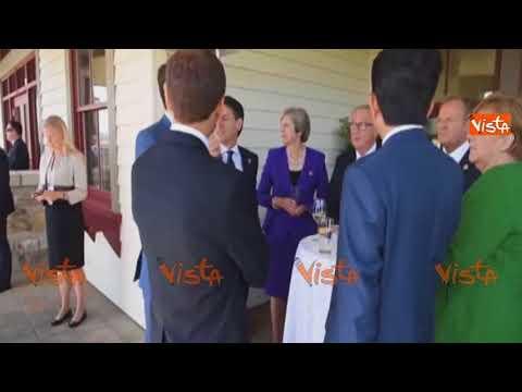 G7, Conte faccia a faccia con i leader