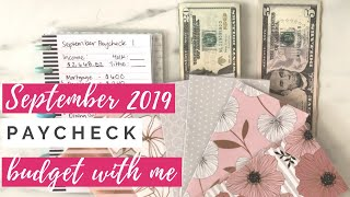 Paycheck Budget & Cash Envelope Stuffing | Budget With Me | Happy Planner Budgeting