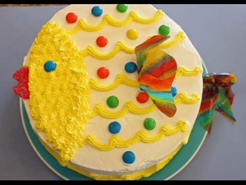 Decorate Luau Fish Cake In Minutes!