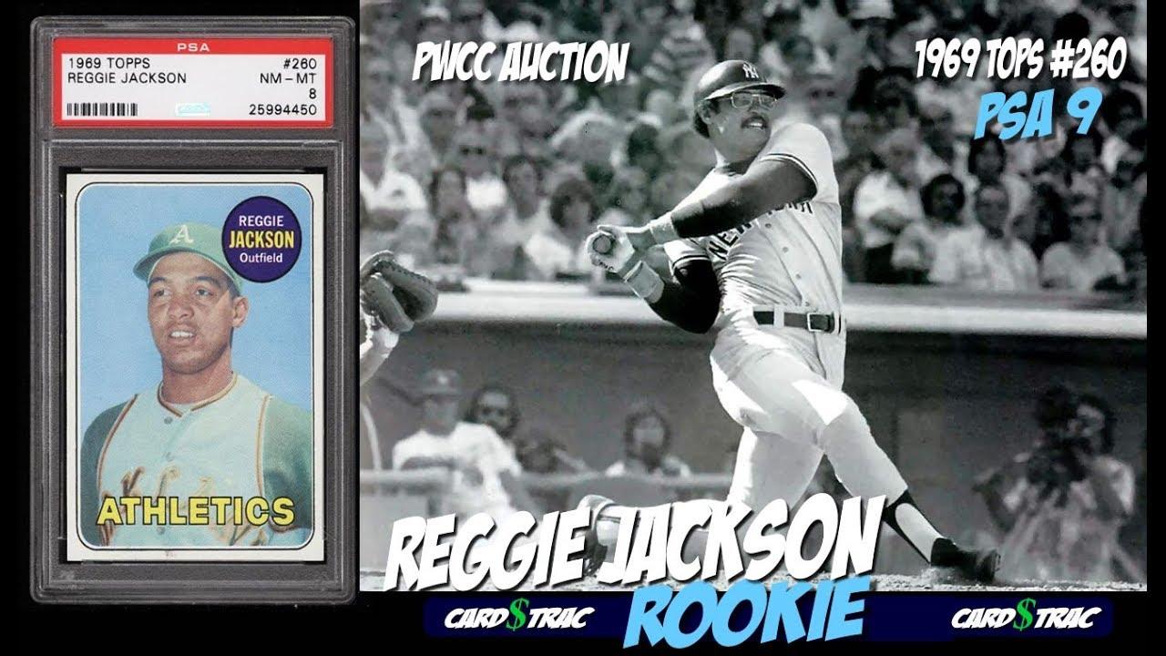 1969 Reggie Jackson Rookie Card Topps 260 Rare Psa 9