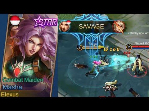 Masha February Starlight Skin Combat Maiden Gameplay (Super Saiyan Rose) - Mobile Legends