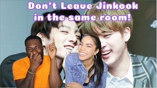 don't leave jin and jungkook in the same room together (CRACK) REACTION