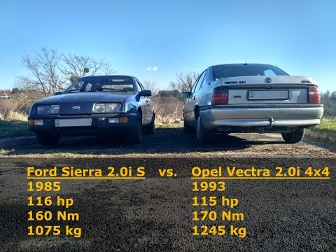 ford sierra is vs opel vectra 4x4 youtube. Black Bedroom Furniture Sets. Home Design Ideas