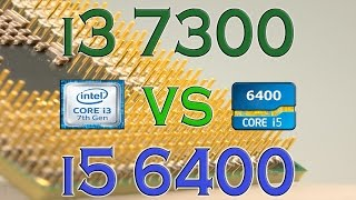 i3 7300 vs i5 6400 benchmarks gaming tests review and comparison kaby lake vs skylake