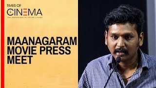 Lokesh Kanagaraj Director Speaks About Maanagaram Movie Press Meet | TOC