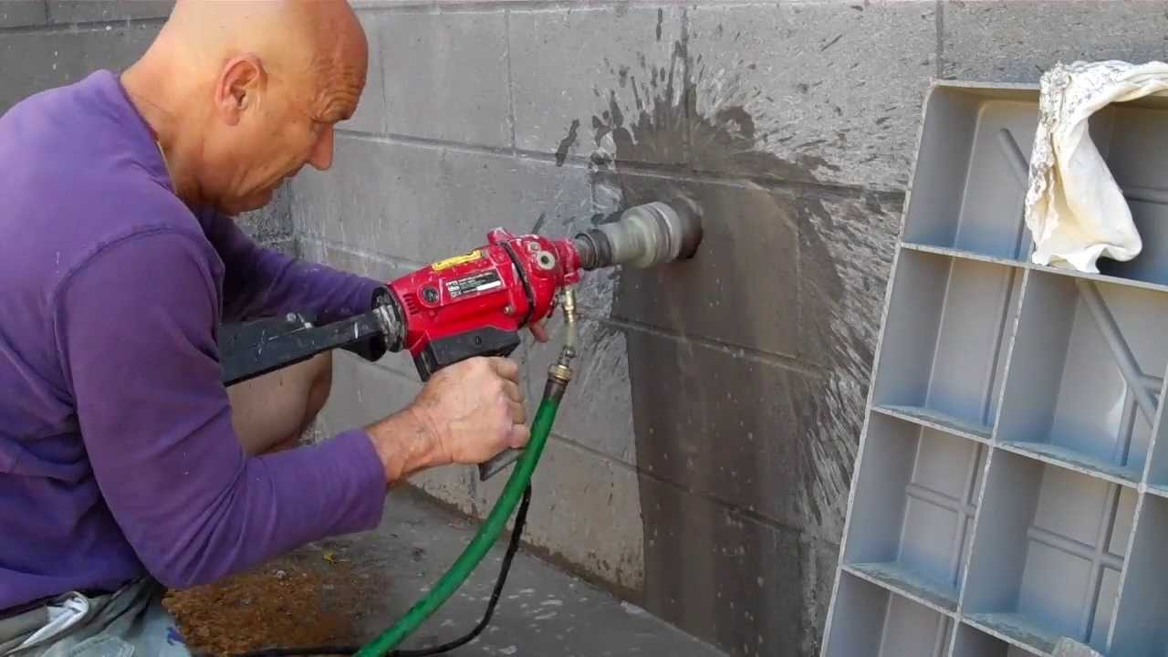 Coring A Block Wall Youtube