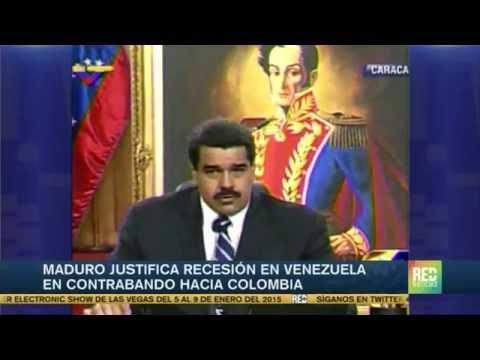 Maduro justificó recesión económica en Venzuela