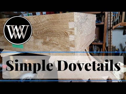 how exactly handy Cut Dovetail Joints quick and easy fast Hand Tool Woodworking Skill