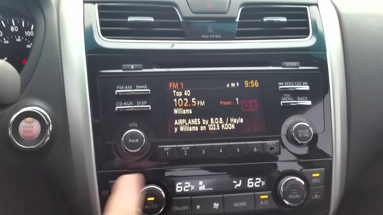 2013 Nissan Altima Radio Reset Youtube
