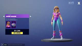 *NEW AEROBIC ASSASSIN SKIN* Fortnite Item Shop! August 11th