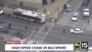 NOW: RECKLESS DRIVER! High-speed police chase in Baltimore