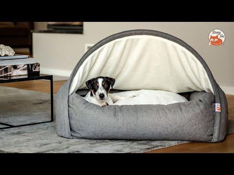 Das Sleepy Fox® Kuschelhöhlenbett erfüllt alle Schlafinstinkte Ihres Hundes