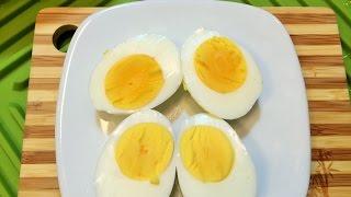 Как Сварить Яйца вкрутую с ЯРКИМ ЖЕЛТКОМ.  ( для новичков)