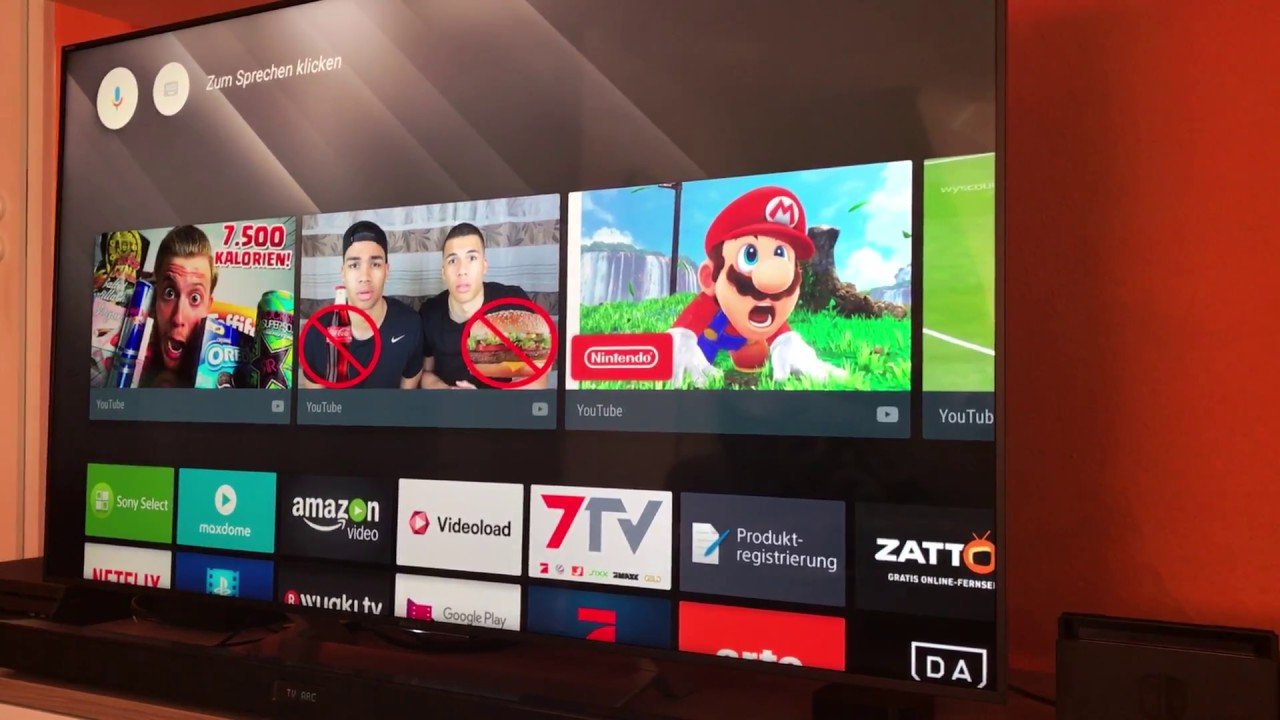 Android TV 7 0 (Nougat) Übersicht Sony XE9005