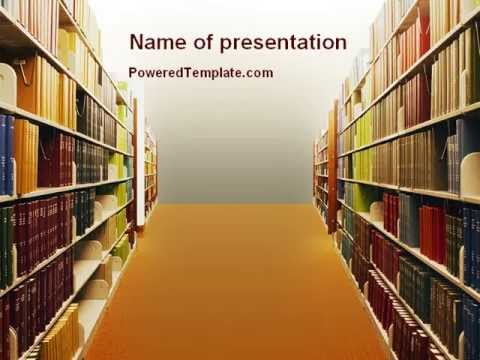 Library book shelves powerpoint template by poweredtemplate library book shelves powerpoint template by poweredtemplate toneelgroepblik Image collections