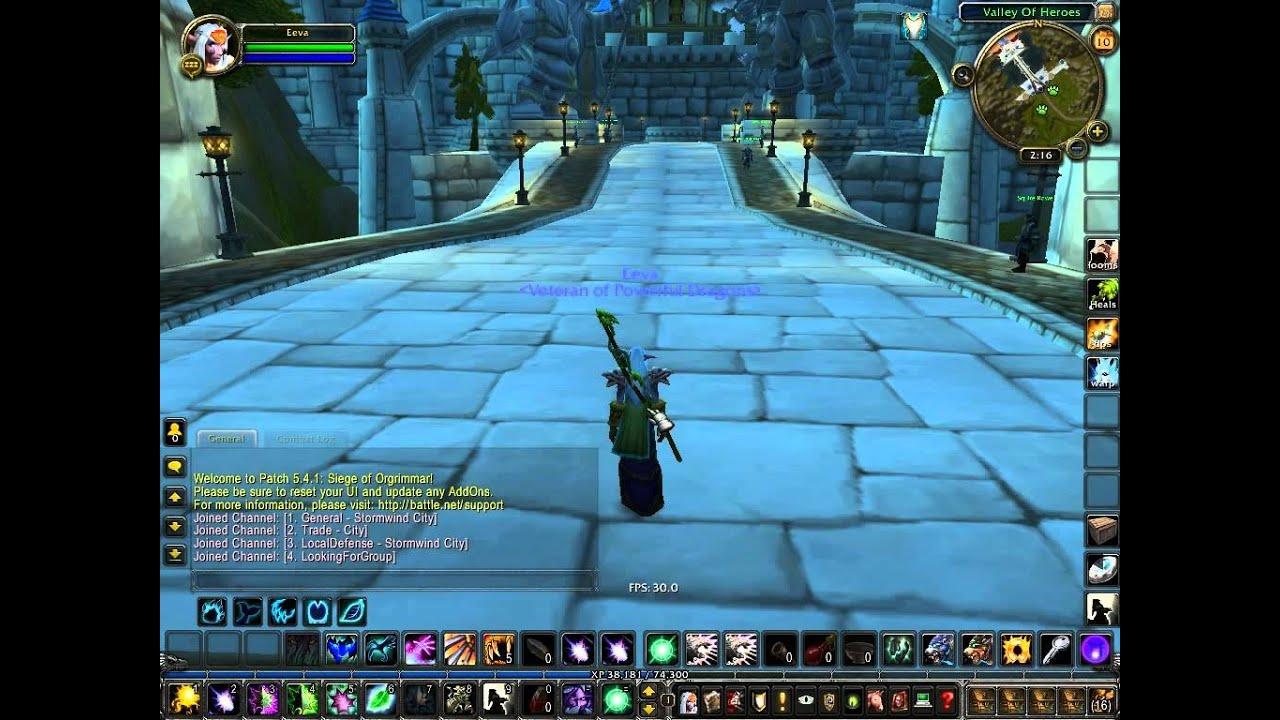 World of Warcraft Frame Rate FPS Choppy - Rating Buster Addon Bug