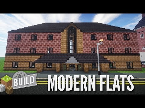 Minecraft: University Halls Apartments - Let's Build Showcase