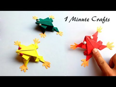 How to make paper frog that jumps high and Far - Easy DIY tutorial