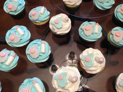 DIY Baby Shower Cupcake Toppers: Onesies, Pacifiers, & Bottles!